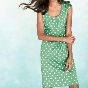 Boden Green Polka Dot Pocket Knit Stretch Dress 💚